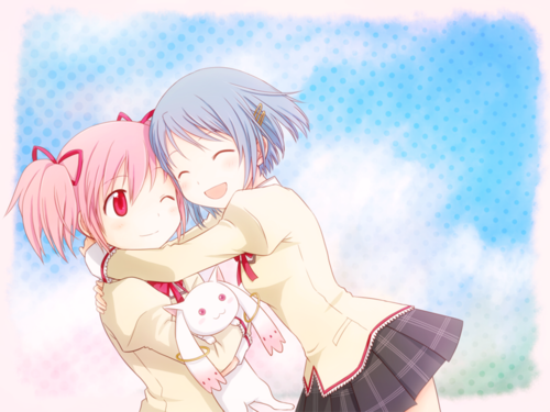 Image result for madoka and sayaka