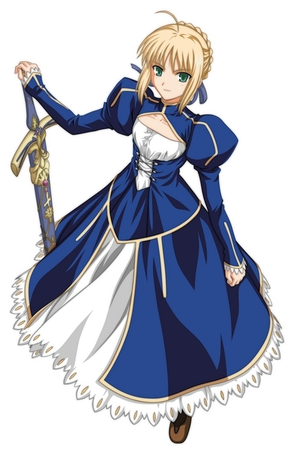 Chloe Ackers Saber-s-dress-without-armor-fate-stay-night