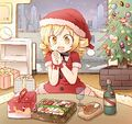 Mami christmas party celebration fanart.jpg