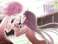 Madoka and homura naked space hug art novel page.jpg