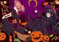 Dark madoka gretchen and witch homura halloween cosplay fanart.jpg