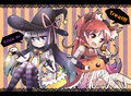 Kyohomu fanart halloween trick or treat cosplay.jpg