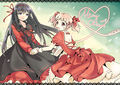 Homura madoka red dress merry christmass.jpg