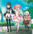 Madoka homura and nagisa together official art.jpg