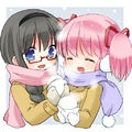 Moemura madoka winter cute together.jpg